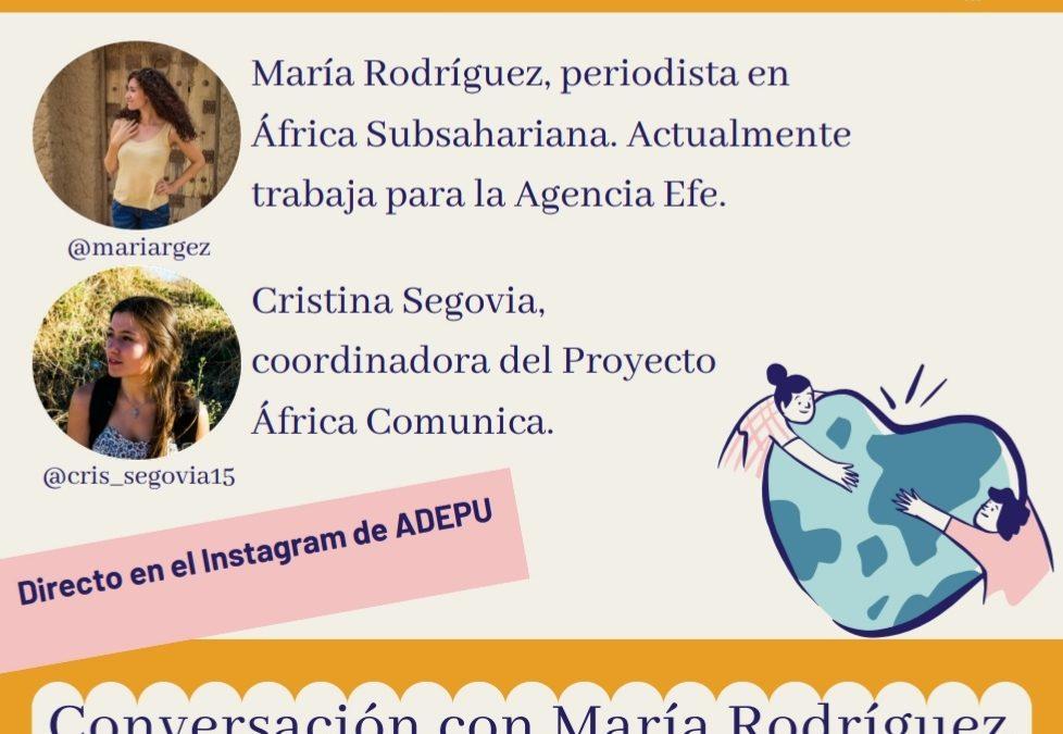 Conversación virtual con María Rodríguez sobre el COVID-19 en África
